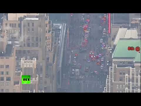 Aerial photos of explosions' aftermath at Manhattan's Port Authority, NYC