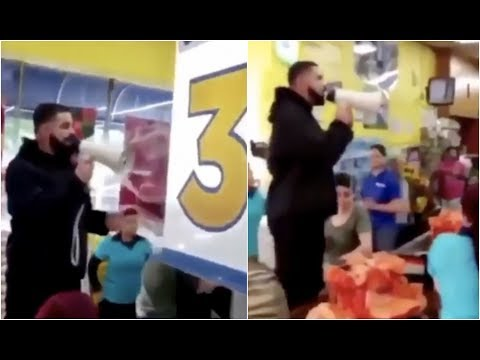 Spread The Love Challenge : Drake Buys Entire Grocery Store And Lets Shoppers Eat For Free