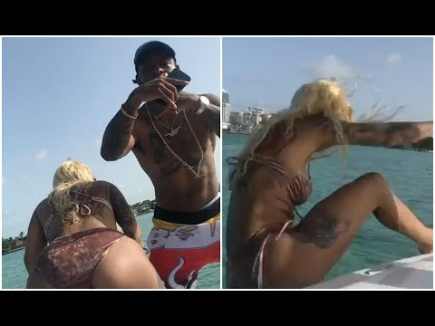 Twerk Fail : Girl Falls Off Boat While Twerking At Jim Jones Yacht Party