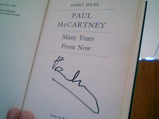 The only Paul McCartney signed official biography known to exist