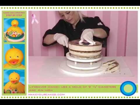 Cake Decorating Tutorial: How to make a 3D baby cake with fondant (English Dub).avi