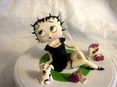 Betty Boop Cake Topper ( gumpaste) cup n' cakes gourmet