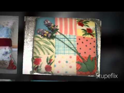 Fondant Fetish - Lavender Patchwork Pillow cake