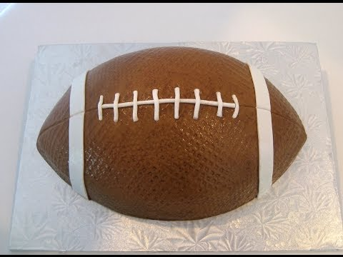 Football Cakes: Buttercream and Fondant