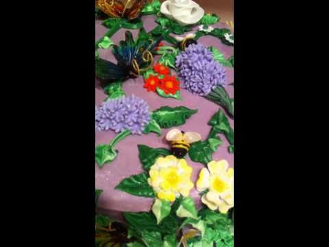 Butterfly Garden Cake by Fondant Fetish