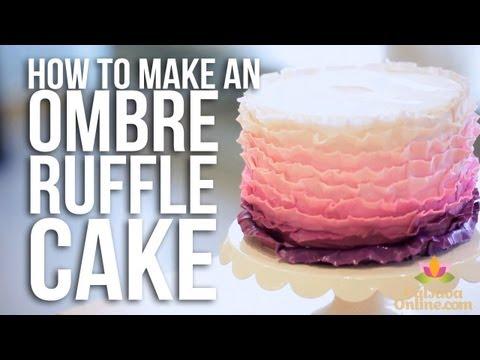 How-to make an Ombre Ruffle Cake | Cake Tutorials