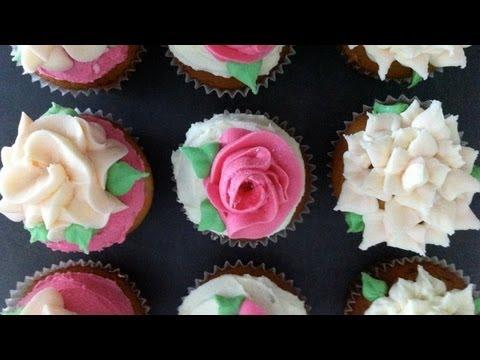 Ann's super easy buttercream roses flower pt1