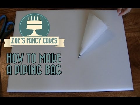 How to make a piping bag for icing and decorating cakes How To Tutorial Zoes Fancy Cakes