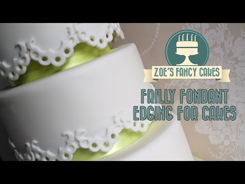 Frilly fondant edging to decorate your cakes How To Cake Tutorial