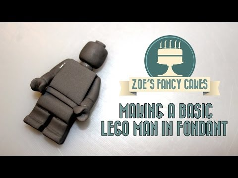 How to make a basic lego man in fondant How To Tutorial Zoes Fancy Cakes