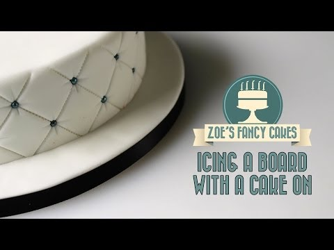 Icing a board with a cake on How To Tutorial Zoes Fancy Cakes