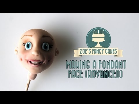 Making a fondant face (advanced) character head How To Tutorial Zoes Fancy Cakes