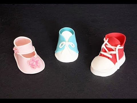 Fondant Baby Shoes--Bootie, Mary Jane, Sneaker