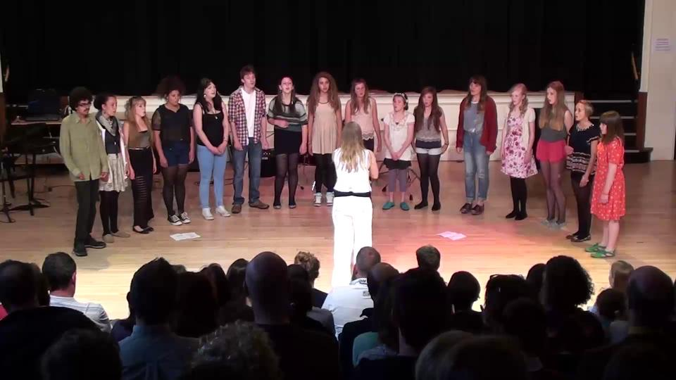 'Lay Me Low'. WorldRoots Acappella @ Cotham School. July 2012.