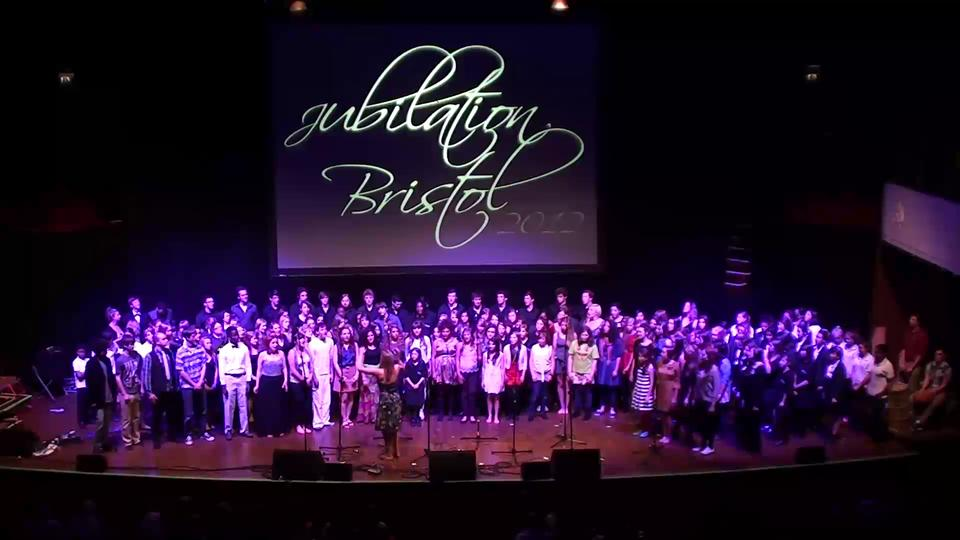 'Di Bule'. Combined choirs @ 'Jubilation Bristol' Colston Hall. June 9th 2012.