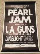 Original Pearl Jam Limelight poster 1992