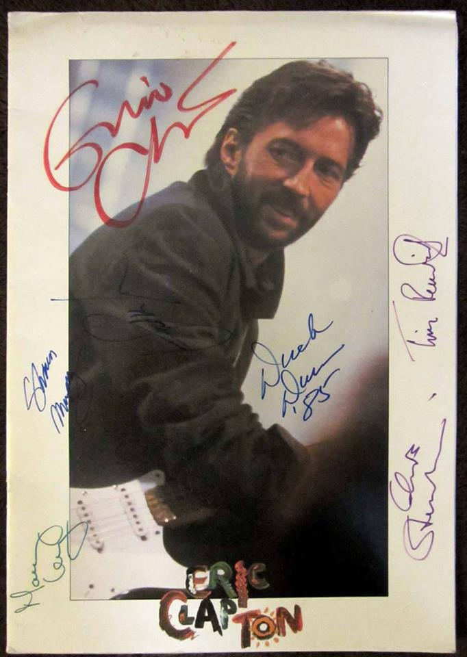 Eric Clapton (and touring band) signed 1985 Behind The Sun Tour Program