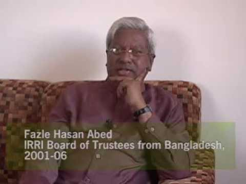 IRRI Pioneer Interviews--Challenges for IRRI: Fazle Hasan Abed