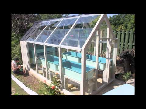 Aquaponics Time Lapse - greenhouse installation