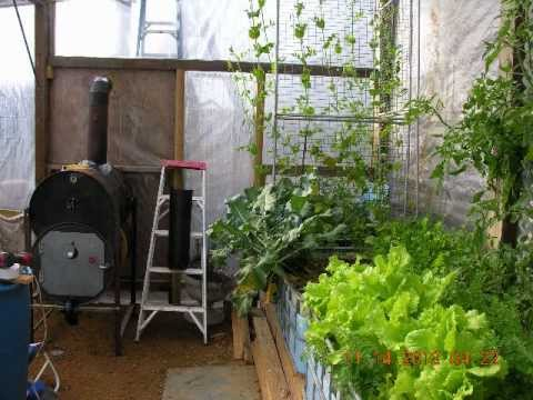 Aquaponics Greenhouse Woodstove Build Slideshow