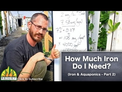 Iron in Aquaponics Part 2 - How Much Iron Do You Need?