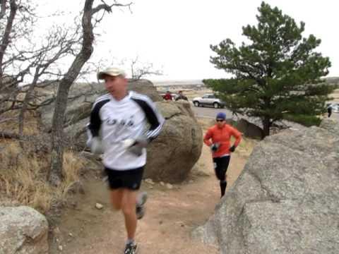 Start of the Cheyenne Mountain 50K Trail Race