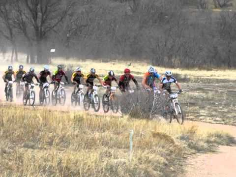 Start of the pro men's race at the Cheyenne Mountain Explosion cross country race