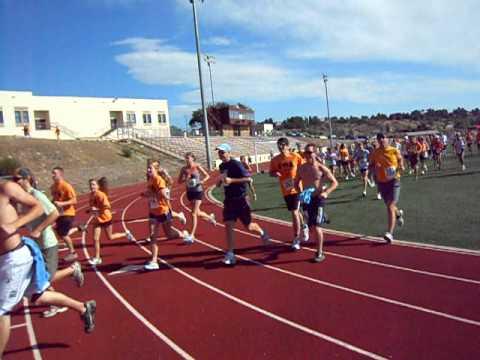Start of the Max Silver Fun Run, July 9 at Cheyenne Mountain High School