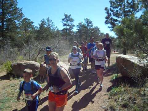 Start of the Big Mountain Trail Run Half Marathon