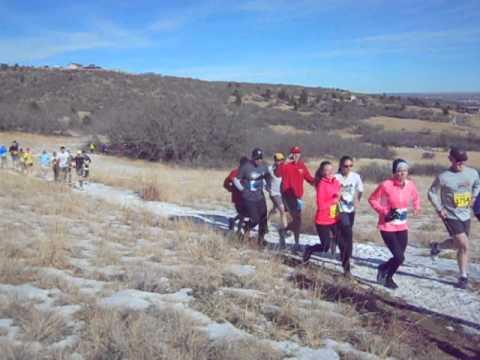 Start of Winter Series I short-course race in Cheyenne Mountain State Park