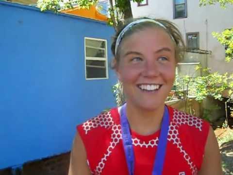Emelie Forsberg talks about her win in the Pikes Peak Marathon
