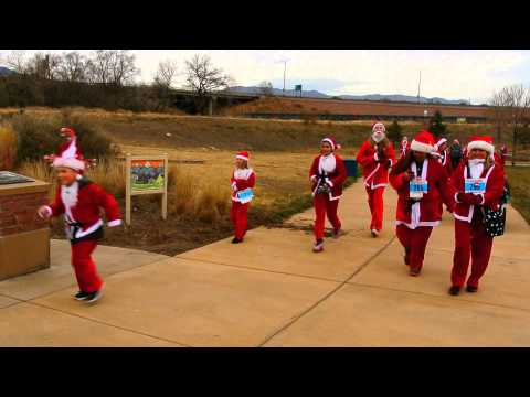 Start of the Chasing Santa 5K
