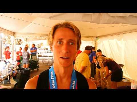 Alex Nichols talks about winning the Pikes Peak Marathon