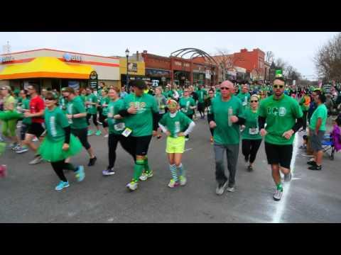 Start of the 2016 5K on St. Patrick's Day