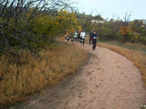 Start of the XTERRA 5K at Cheyenne Mountain State Park