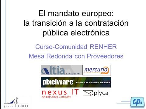 Mesa redonda sobre contratación pública electrónica.