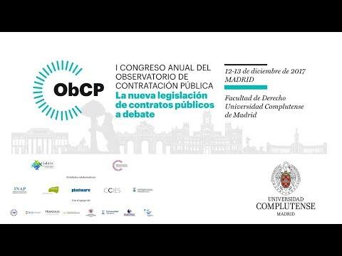 I Congreso anual del observatariode Contratación Pública. UCM