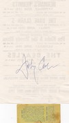 johnny cash autographes 1995 - thru his death inperson nyc also some june carter cash sigs