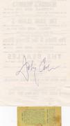 johnny cash signed handbill