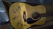 johnny cash and the highway men autographed guitar