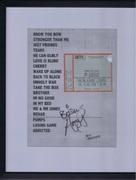 Amy Winehouse autographed set list