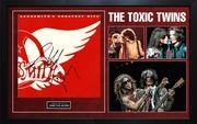 Aerosmith Toxic Twins Autographed Greatest Hits Album Custom Display