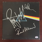 Roger Waters, Richard Wright & Nick Mason Signed DSoTM LP Front