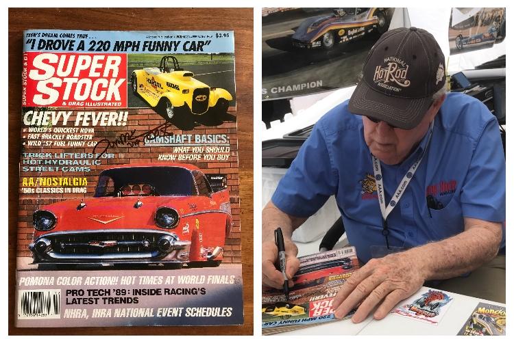 #28-35, NHRA, Tom(Mongoose)McEwen, Signing, Super Stock, Magazine, February, 1989, Hot Wheels,