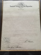 Marilyn Monroe Autograph signed Fox Contract 1950.