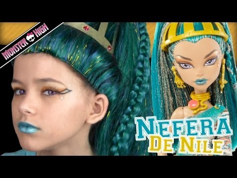 Monster High Nefera De Nile Doll Costume Makeup Tutorial for Halloween or Cosplay  |  KITTIESMAMA