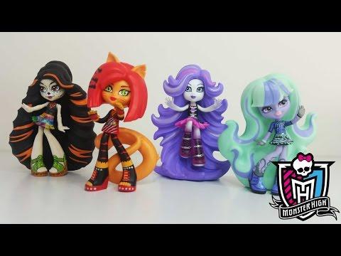 Monster High Vinyl Figures Wave 2 - Toralei, Twyla, Skelita & Spectra