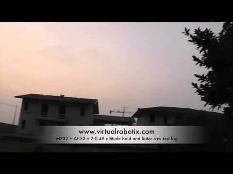 MP32+AC32 rev 2.0.49 Altitude Hold and loiter test comp Wi Fi