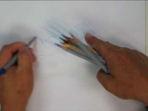 Water color pencil technique