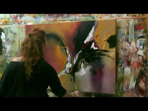 """Abstract acrylic painting Demo - Abstrakte Malerei """"Wish I could fly"""" by Zacher-Finet"""